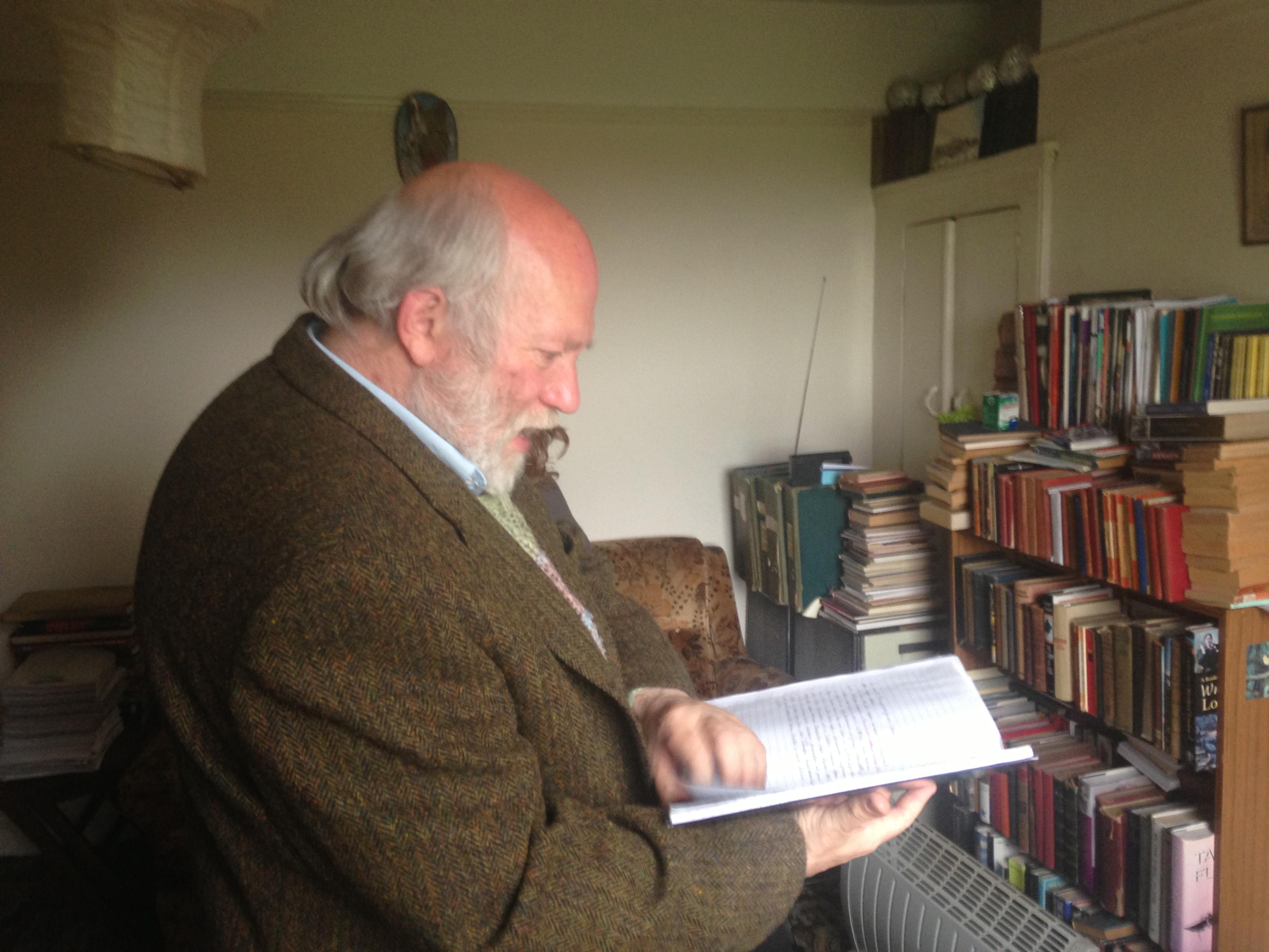 Harvey in his flat, June 2013