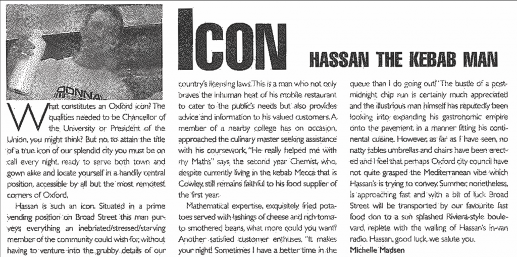 THROUGH THE ARCHIVES #2: Hassan the Kebab Man